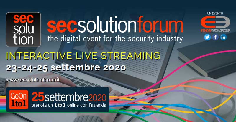 secsolutionforum, Interactive Live Streaming - 23-24 settembre 2020